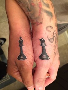 Couples King and queen chess piece