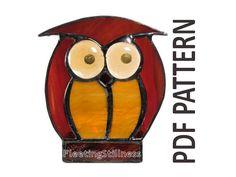 PDF Pattern for Stained Glass Owl w/ Ears Down - FleetingStillness Original Design