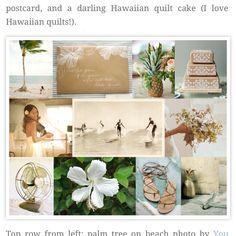 Vintage Hawaiian wedding theme.