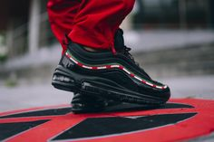 Supreme Playboy Pants x GUCCI Socks x Undefeated Air Max 97