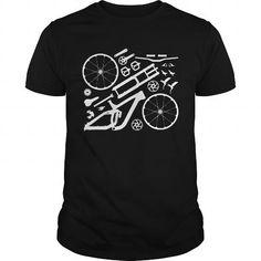 Awesome Tee Ride Downhill Mountain Bike Freeride Cycle MTB T Shirt T-Shirts