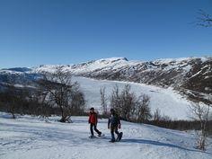 No pude faltar una caminata con raqueta de nieve!