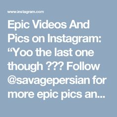 """Epic Videos And Pics on Instagram: """"Yoo the last one though 😂😂😂 Follow @savagepersian for more epic pics and videos  Tags: #epic #wow #funny #bruh #laughing #hilarious…"""" • Instagram Last One, Hilarious, Funny, Laughing, Tags, Videos, Places, Instagram, Hilarious Stuff"""