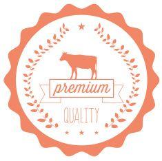 Qualität premium-Rindfleisch-symbol vector art illustration