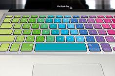 Mac keyboard cover Macbook keyboard sticker Gradient por gingchok, $14,50