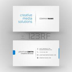 Kreative Visitenkarte Vektor Design Druckvorlage Lizenzfreie Bilder