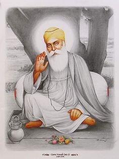 Happy guru purab to all Guru Nanak Photo, Guru Nanak Ji, Nanak Dev Ji, Guru Tegh Bahadur, Guru Nanak Wallpaper, Guru Nanak Jayanti, Poster Color Painting, Sri Guru Granth Sahib, Warriors Wallpaper