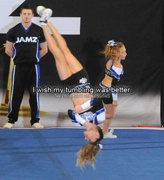 Cheerleading Confessions yes because my tumbling consists of a punch front on a tramp. Cheer Jumps, Cheer Stunts, Cheer Dance, Cheer Qoutes, Cheerleading Quotes, Dangerous Sports, Cheer Workouts, Cheer Athletics, All Star Cheer