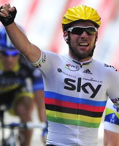 Mark Cavendish--will we see this today for Stage 6?  Lets hope so.