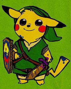 [ Pokmon + Zelda ]    [ Pikachu + Link ]