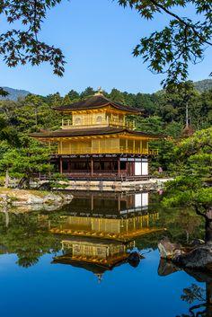 Kinkaku-ji Temple, The Golden Pavilion, Kyoto City, Japan