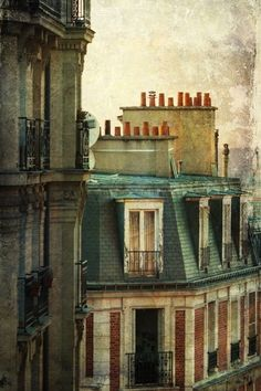 Parisian rooftops - all the chimney pots - one of the first things I noticed!