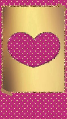 Cute pink and gold wallpaper