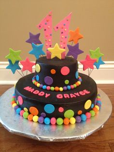 S Neon Birthday Cake By Christies Creations Facebookcom - Neon birthday party cakes