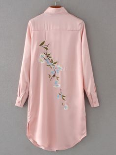 Specifications: Gender:Women Decoration:Embroidery Style:Fashion Clothing Length:Long Sleeve Length:Full Pattern Type:Floral Collar:Turn-down Collar Fabric Type:Satin Sleeve Style:Regular Material:Pol Look Fashion, Hijab Fashion, Fashion Dresses, Womens Fashion, Embroidery Fashion, Embroidery Dress, Embroidery Patterns, Apex Embroidery, Modern Embroidery
