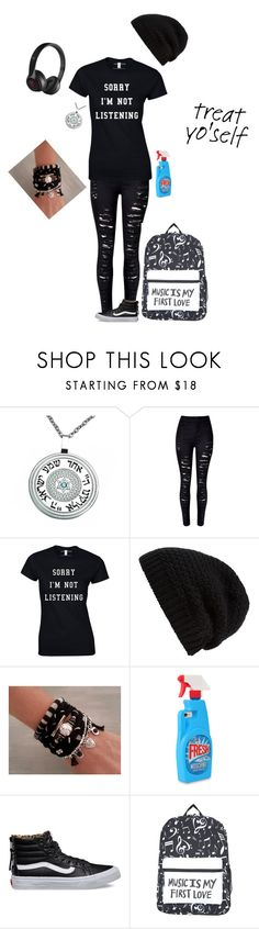 """""""My collage look"""" by donut-boi on Polyvore featuring WithChic, Rick Owens, Moschino, Vans and Beats by Dr. Dre"""