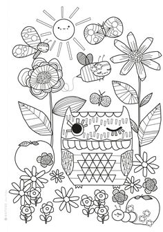 Mollie Makes Colouring Sheet Free Printable Preview