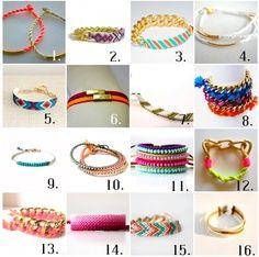 Friendship bracelets sixteen designs / ideas.