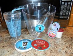brew over ice #giveaway @TwoClassyChics   Giveaway:One lucky winner is going to win the following prize pack which includes:a tumbler cup with straw & lid, a light-up ice bucket with tongs, 4 coasters, and 3 product samples