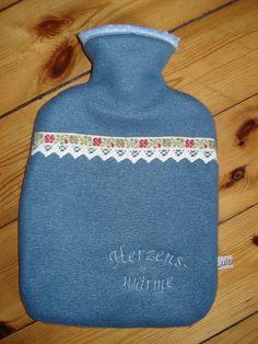 Wärmflaschenhülle #Wärmflasche #Wärmflaschenhülle #blau #Herzenswärme