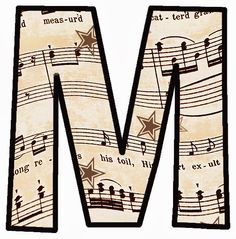 "ArtbyJean - Vintage Sheet Music Alphabet ""M"" Preschool Music, Music Activities, Teaching Music, Preschool Bulletin, Teaching Tips, Vintage Sheet Music, Vintage Sheets, Music Letters, Bulletin Board Letters"