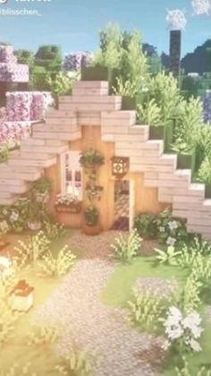 Villa Minecraft, Minecraft Kunst, Architecture Minecraft, Minecraft House Plans, Minecraft Mansion, Minecraft Structures, Easy Minecraft Houses, Minecraft House Tutorials, Minecraft Crafts