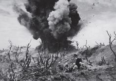 On Veteran's Day, here are some of the greatest pictures to run in LIFE during World War II — from Blitz-ravaged London to the sands and jungles of the Pacific. See more: http://ti.me/1ExpesQ  Pictured: Iwo Jima, 1945  (W. Eugene Smith—The LIFE Picture Collection/Getty Images)