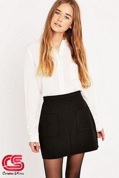 """Urban Outfitters – Rock """"Amber"""" mit T 6th Form Outfits Smart, Sixth Form Outfits, Smart Outfit, Smart Casual Skirt, College Outfits, Office Outfits, Casual Outfits, Cute Outfits, Fashion Outfits"""