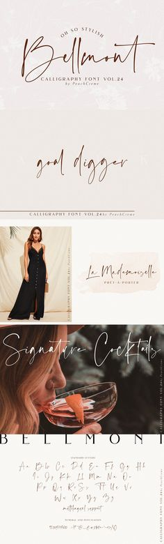 Bellmont// Stylish Font SALE!!! by PeachCreme on @creativemarket