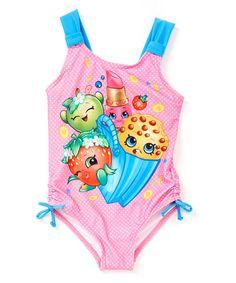 Loving this Pink Shopkins One-Piece - Girls on #zulily! #zulilyfinds