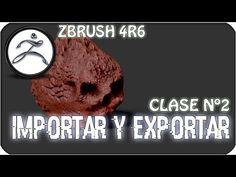 Tutorial Zbrush en Español #2 | Importar y Exportar objetos - YouTube