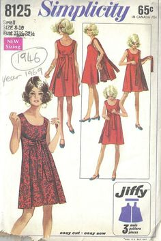 Simplicity 8125 Misses Reversible Wrap Dress Pattern Jiffy Women s Vintage Sewing Pattern Size Small 8 10 Bust 31 32 OR Medium Idee di Tendenza Alla Moda Divertenti Pazzi 🍚 Dress Sewing Patterns, Vintage Sewing Patterns, Clothing Patterns, Pattern Sewing, Apron Patterns, Skirt Patterns, Vogue Patterns, Coat Patterns, Pattern Drafting