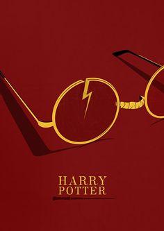 Harry Potter Minimal Poster by pbrainillustration