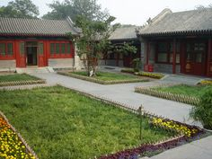 Siheyuan traditional Chinese courtyard house - Google Search China Architecture, Interior Architecture, Chinese Courtyard, Asian House, Chinese Design, Modern Style Homes, Courtyard House, China Travel, Asian Style