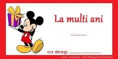 Felicitari personalizate de zi de nastere - La mulți ani Iulia Chiru, să ai parte de sănătate, fericire și zile senine! - mesajeurarifelicitari.com Mickey Mouse, Disney Characters, Fictional Characters, Fantasy Characters, Baby Mouse