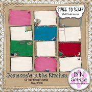 Someone's In The Kitchen Recipe Cards Cookbook Ideas, Kitchen Recipes, Recipe Cards