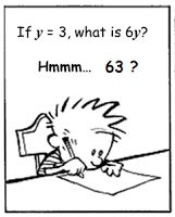 exzuberant: If y = 3, then 6y = 63 ... or is it?
