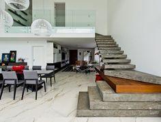 Concreto e madeira dão o tom em arquitetura minimalista (Foto: Divulgação)