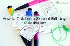 How to Celebrate Student Birthdays – Quick and Easy – with a FREEBIE!