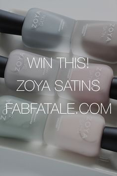 i'm giving away the @zoyanailpolish Naturel Satins collection, today at at http://www.fabfatale.com/2015/02/win-zoya-naturel-satins-giveaway/ #zoya #zoysatins
