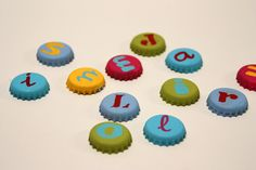 Magnets made of sheet metal letters #recycled #DIY #crafts