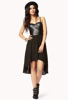 28Faux Leather Cutout Dress | FOREVER21 - 2076352335