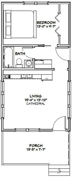 Super Kitchen Layout Small Floor Plans Tiny Homes Ideas House Layout Plans, Small House Plans, House Layouts, Guest House Plans, Shed House Plans, Small Floor Plans, Cabin Floor Plans, The Plan, How To Plan