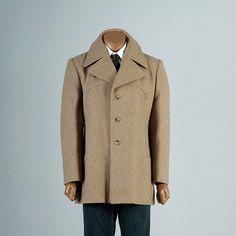 Mens Vintage 70s Wool Tweed Brown Winter by StyleandSalvageMen