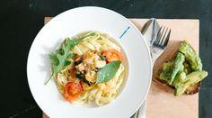 Allyouneed.com kocht: Garnelen-Pasta und Avocado-Bruschetta
