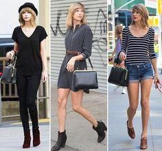 Looks de Taylor Swift com pegada mais vintage.