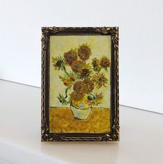how to: recreating Van Gogh's Sunflowers in miniature