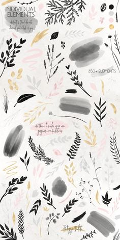 Charcoal, Gold & Blush Collection by Patrycja Dolata on Creative Market Instagram Grid, Instagram Design, Instagram Story Ideas, Instagram Logo, Pastel Wallpaper, Wallpaper Backgrounds, Art Graphique, Cute Wallpapers, Aesthetic Wallpapers