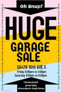 Garage Sale Flyer Templates | Kreativ och Garage
