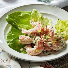 Chef John Besh: Recipes for a New Orleans–Style Feast Cajun Recipes, Shrimp Recipes, Salad Recipes, Cooking Recipes, Free Recipes, Shrimp And Lobster, Fish And Seafood, John Besh Recipes, Family Circle Recipes